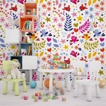 Murales de vinyle joie naturelle
