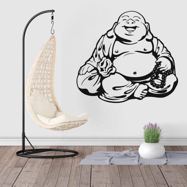 Vinyle décoratif et des autocollants silhouette de bouddha