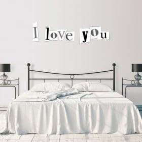 Vinyle décoratif et des autocollants je t'aime