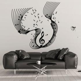 Cascade musicale vinyle décoratif
