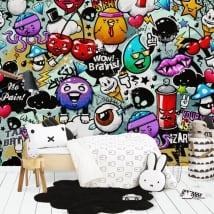 Murales de vinyle graffiti juvénile