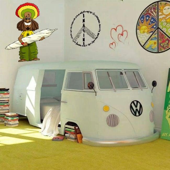 Vinyle décoratif et des autocollants rastafari