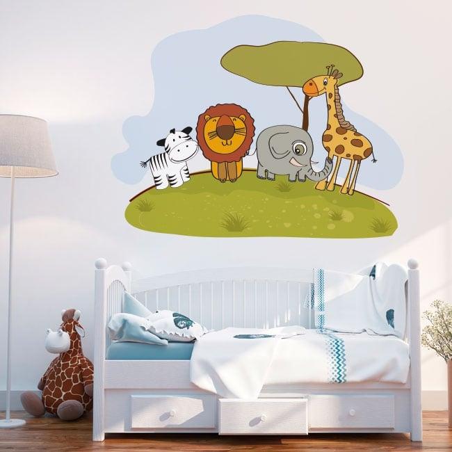 Vinyle décoratif animaux enfants zoo
