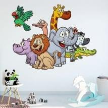 Vinyle décoratif et des autocollants animaux pour enfants
