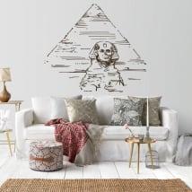Vinyle décoratif pyramides et grand sphinx de guiza