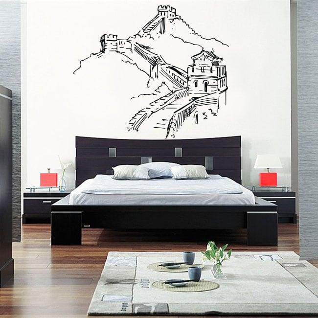 Vinyle décoratif la grande muraille de chine