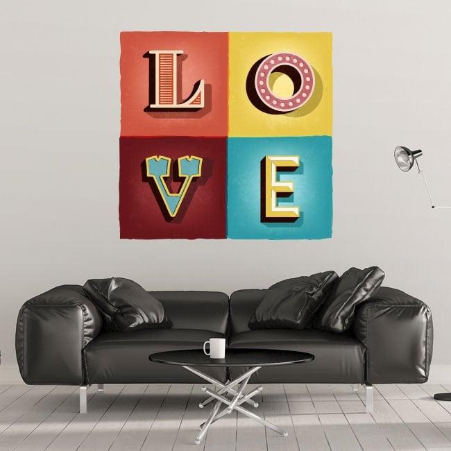 Vinyle décoratif et des autocollants amour rétro