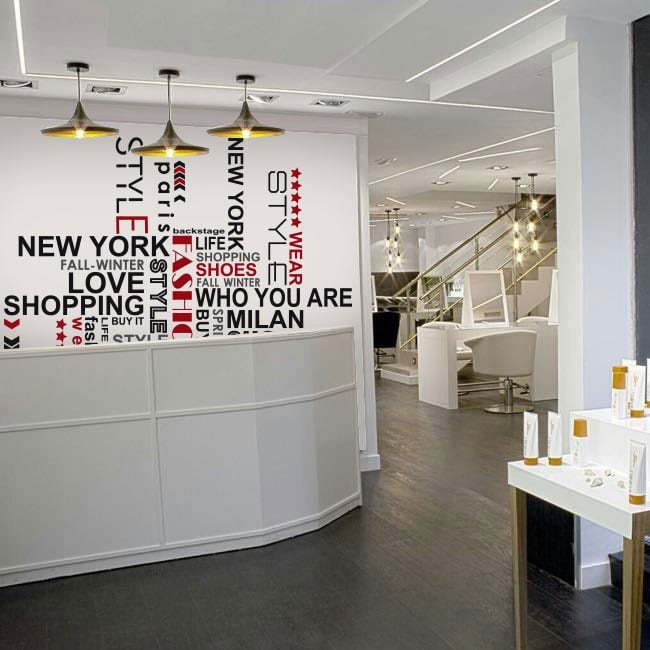 Vinyle décoratif phrases pour les magasins