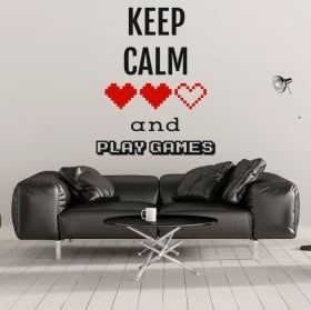 Vinyle décoratif des phrases keep calm and play games