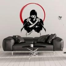 Vinyle décoratif et des autocollants silhouette de ninja
