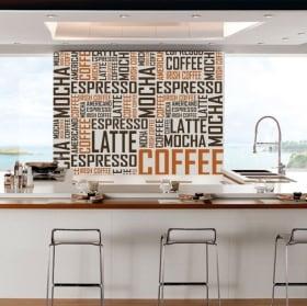 Vinyle décoratif et des autocollants textes de café