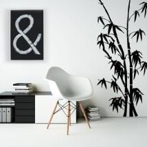 Vinyle décoratif et des autocollants avec du bambou