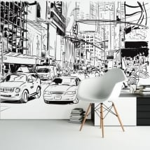 Murales de vinyle illustration de la ville