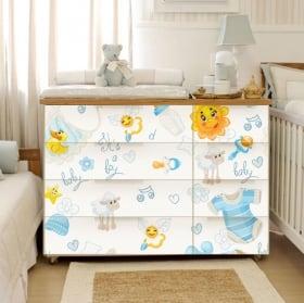 Vinyle décoratif pour confortable et meubles de bébé