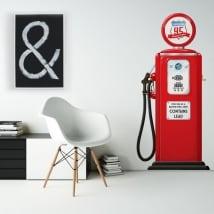 Vinyle décoratif et des autocollants pompe à essence rétro