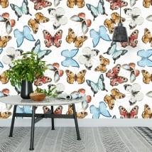 Murales de vinyle avec des papillons