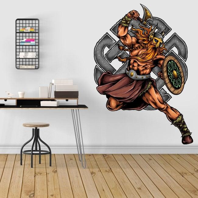 Vinyle décoratif guerrier viking
