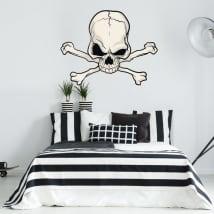Vinyle décoratif crâne et os