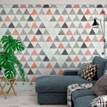 Murales de vinyle des triangles décoration nordique