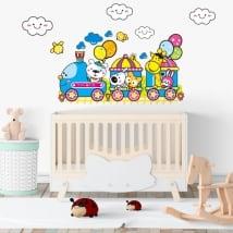 Vinyle de bébé train des enfants