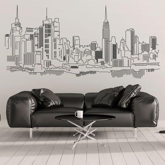Vinyle décoratif et des autocollants horizon de new york