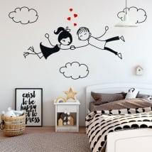 Vinyle décoratif et des autocollants l'amour dans les nuages