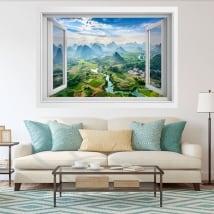 Vinyle décoratif des fenêtres ville guilin chine 3d