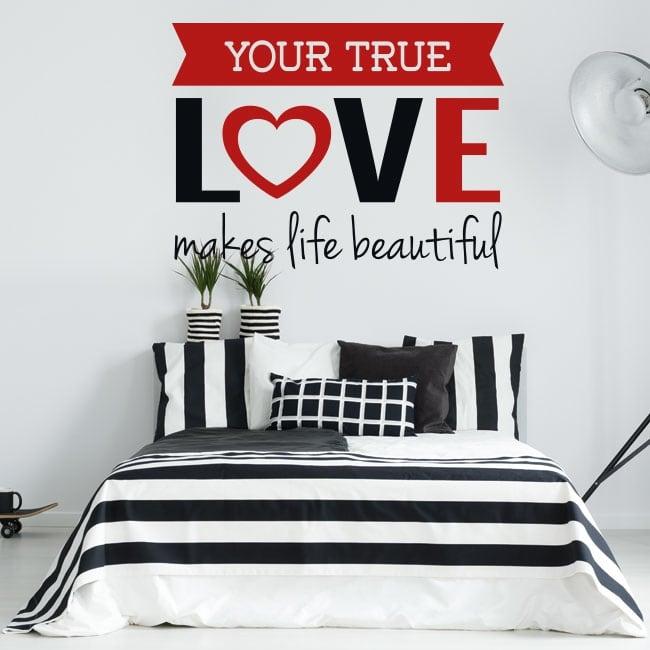 Vinyle les murs phrase romantique vrai amour