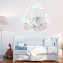 Vinyle pour bébé amour des éléphants de mère
