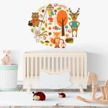 Vinyle bébé animaux pour enfants