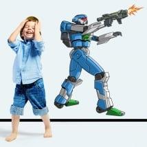 Vinyle et autocollants robot de combat