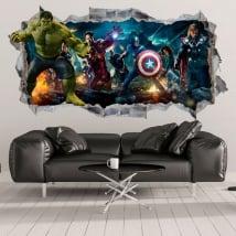 Vinyle décoratif et autocollants hulk 3d