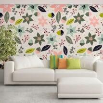 Papier peint vinyle fleurs à décorer