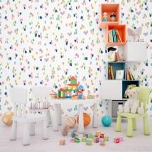 Murales de vinyle avec des traits colorés