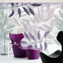 Murales des fleurs pour décorer les murs et les objets