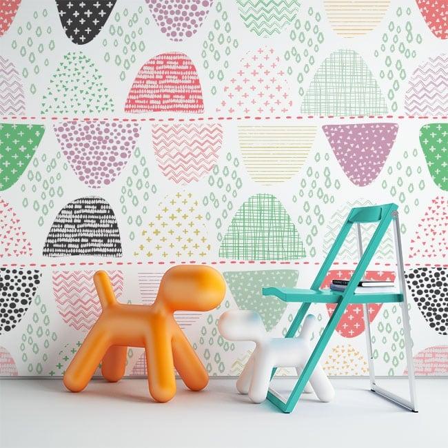 Murales de vinyle formes géométriques