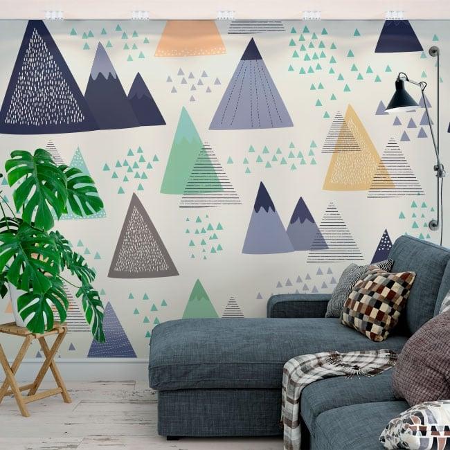 Papiers peints triangles décoration nordique
