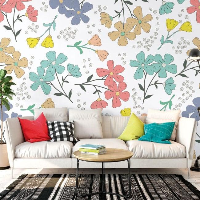 Murales fleurs à décorer