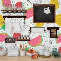 Murales de vinyle fruits de cuisine