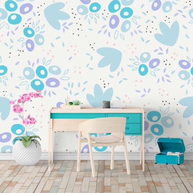 Murales de vinyle formes abstraites