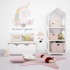 Autocollants et vinyles décoratifs puissance de la licorne