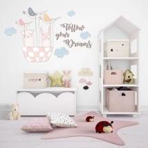 Vinyle décoratif et des autocollants follow your dreams
