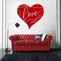 Vinyle décoratif coeur amour