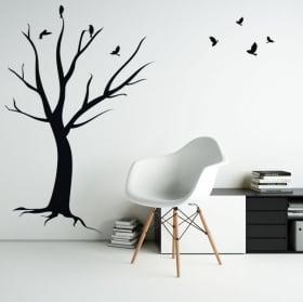 Vinyle décoratif et des autocollants arbre de lignes