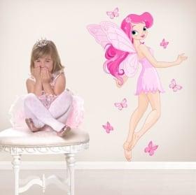 Des autocollants et vinyle pour enfants fée aux papillons