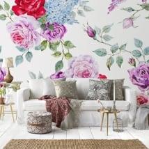 Murales de vinyle avec des roses