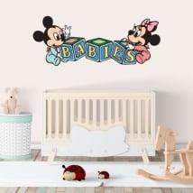 Vinyle les murs disney mickey et minnie les bébés