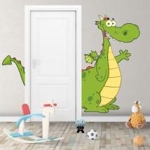Vinyle décoratif pour enfants dragon pour les portes