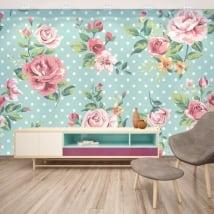 Adhésifs muraux avec des fleurs a decorer