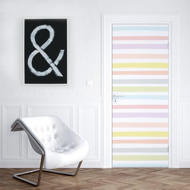 Vinyle pour portes rayures colorées